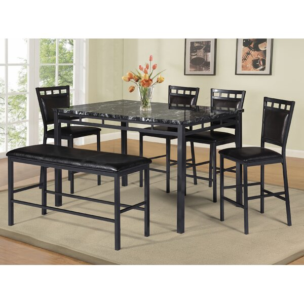 6 Piece Counter Height Dining Set By Best Quality Furniture Cool