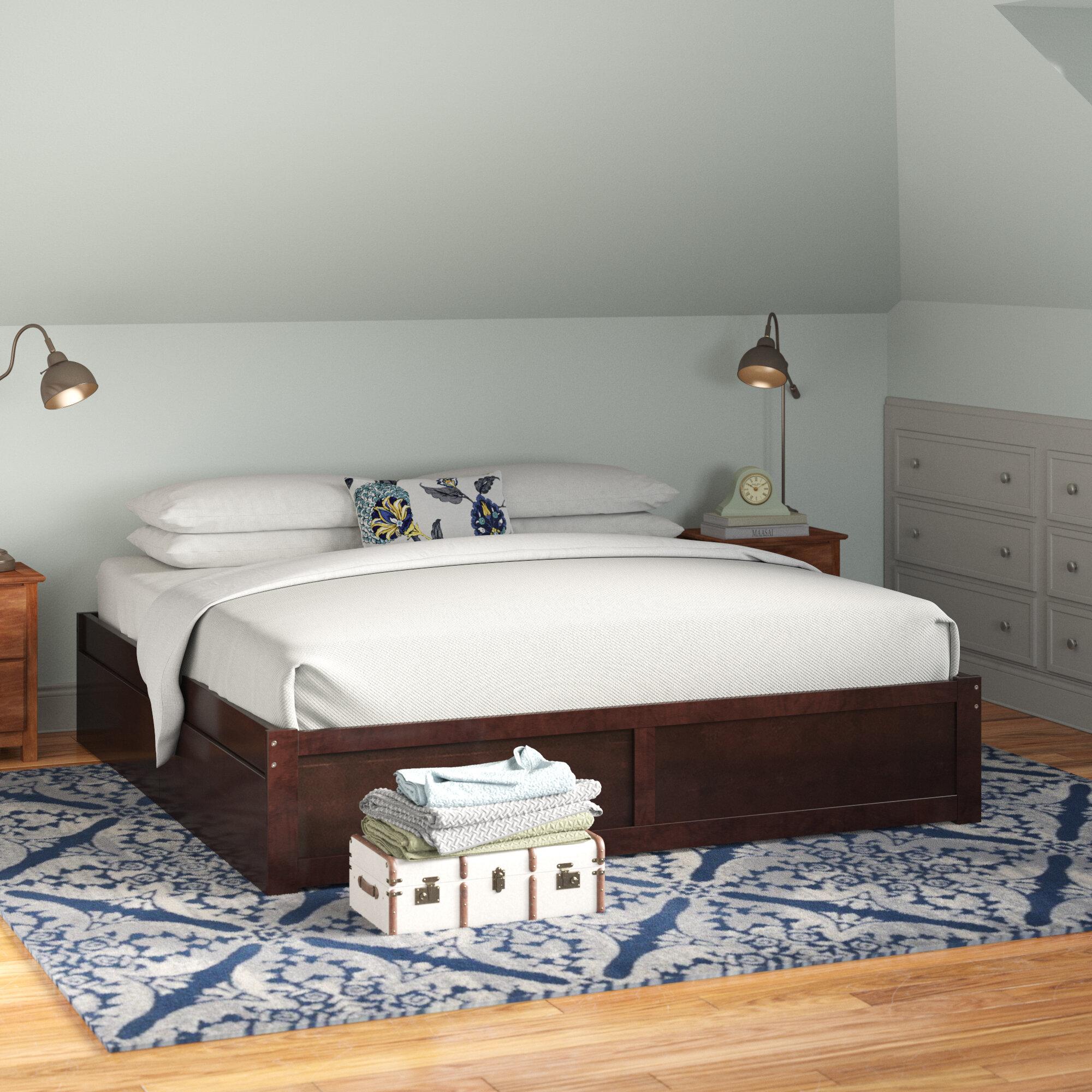 Andover Mills Mackenzie King Solid Wood Storage Platform Bed Reviews Wayfair