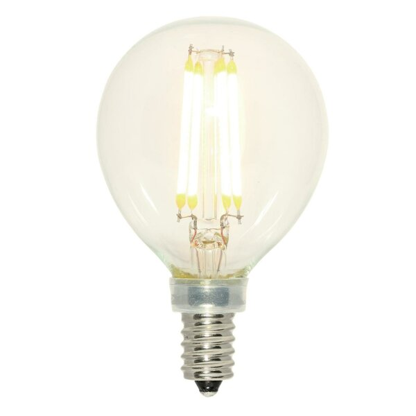 4W E12 Dimmable LED Edison Globe Light Bulb by Westinghouse Lighting