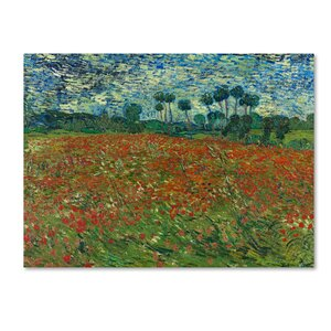 'Poppy Field' Print on Wrapped Canvas by Trademark Fine Art