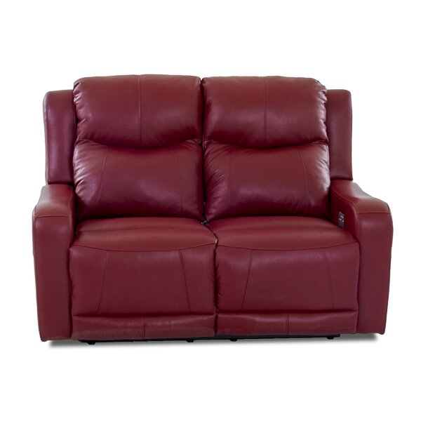 Discounts Theodore Leather Reclining Loveseat by Red Barrel Studio by Red Barrel Studio