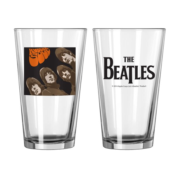 Beatles Rubber Soul Collectible Pint Glass by Boelter Brands