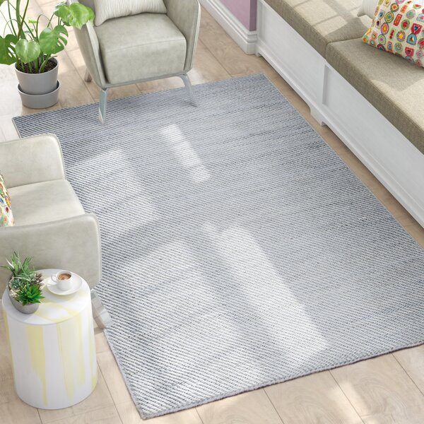 Guilford Hand-Woven Wool Gray Area Rug by Latitude Run
