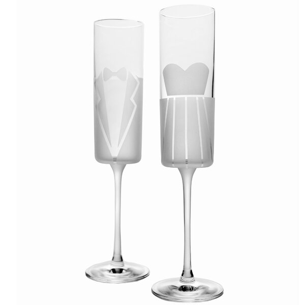 2 Piece 5.8 Oz. Champagne Flute Set by Rolf Glass