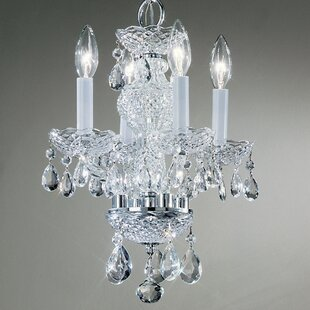 Check Prices Monticello 4-Light Candle Style Chandelier By Classic Lighting