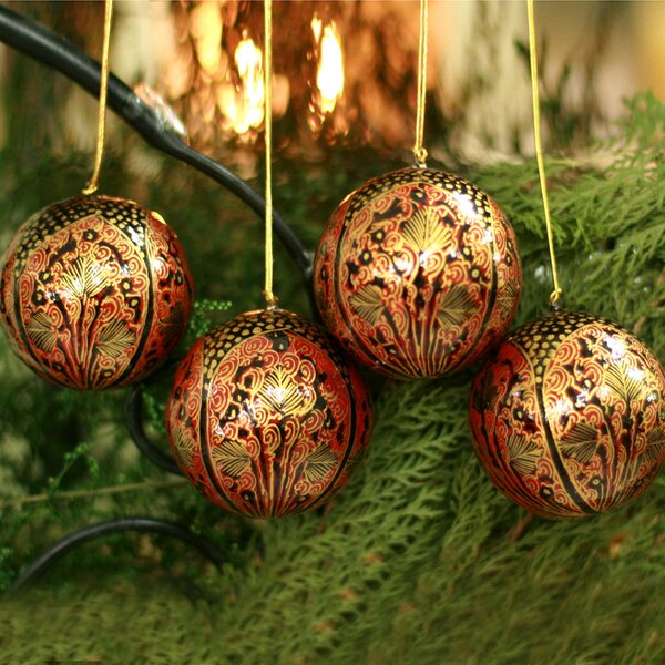 Lavish Celebrations Ornament (Set of 4) by Novica