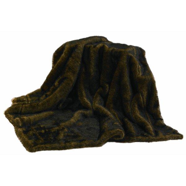 Atascosa Mink Faux Fur Throw Blanket by Loon Peak