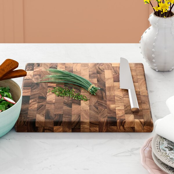 Chaidez Wood Square End Grain Chef S Board By Mint Pantry.