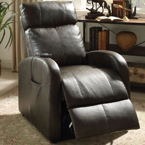 Ricardo Leather Recliner by A&..
