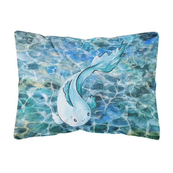 Waverly Fish Indoor/Outdoor Throw Pillow by Highland Dunes