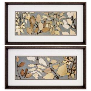 'Spring Gaze' 2 Piece Framed Print Set by Alcott Hill