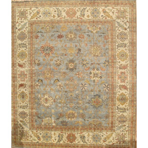 Sultanabad Light Blue/Ivory Area Rug by Pasargad