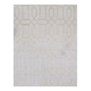 Compare prices Modern Hand-Knotted Silk Gray Area Rug By Pasargad NY