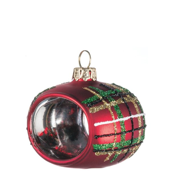 Plaid Napkin Ring Ornaments (Set of 4) by The Holiday Aisle