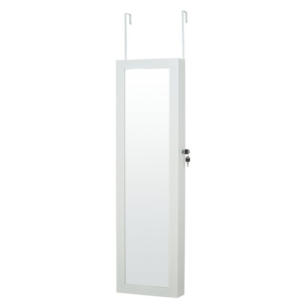 Rickey LED Wall Mounted Jewelry Armoire with Mirror by Rebrilliant