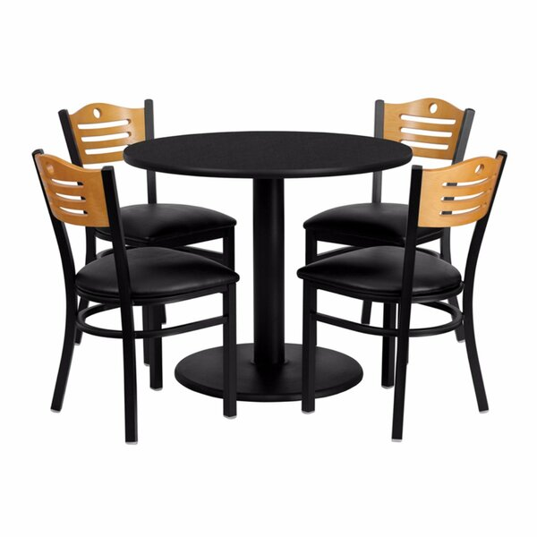 Ulrich Round Laminate 5 Piece Dining Set by Ebern Designs