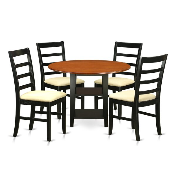 Best Choices Tyshawn 5 Piece Drop Leaf Breakfast Nook Solid Wood Dining Set By Charlton Home Herry Up