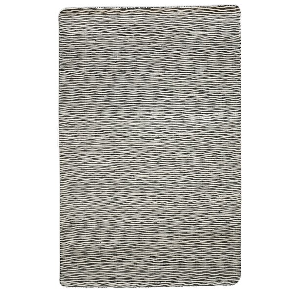 Julian Handwoven Wool Black/Ivory Area Rug by 17 Stories