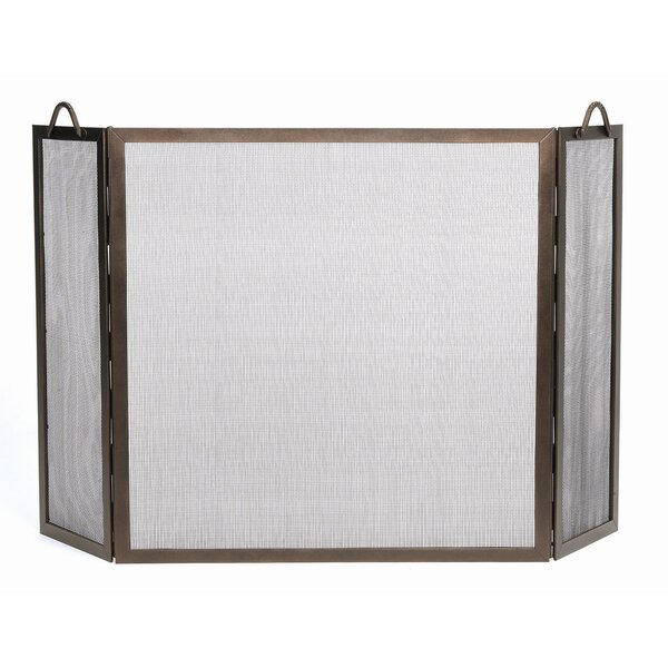 Dutton Rope 3 Panel Iron Fireplace Screen By Millwood Pines