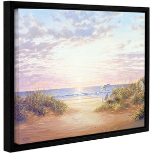 Strubel Paradise Dawn Framed Painting Print on Wrapped Canvas by Beachcrest Home