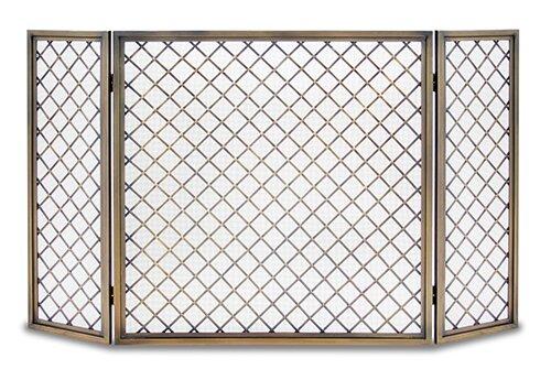 Best Hartwick 3 Panel Iron Fireplace Screen