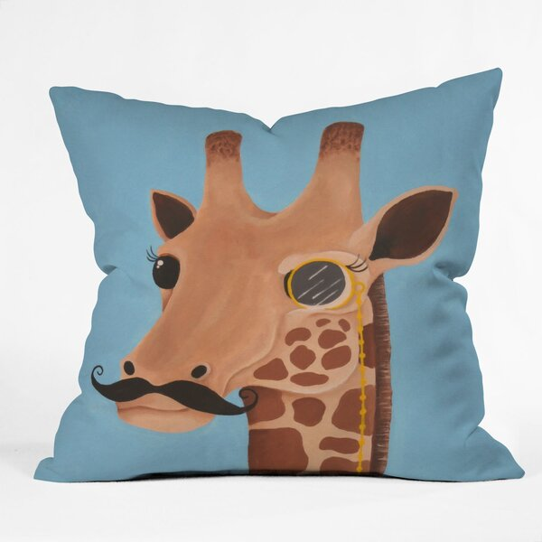Mandy Hazell Gentleman Giraffe Throw Pillow by Deny Designs