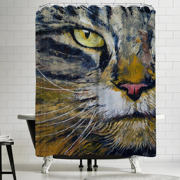 Michael Creese Norwegian Forest Cat Shower Curtain by East Urban Home