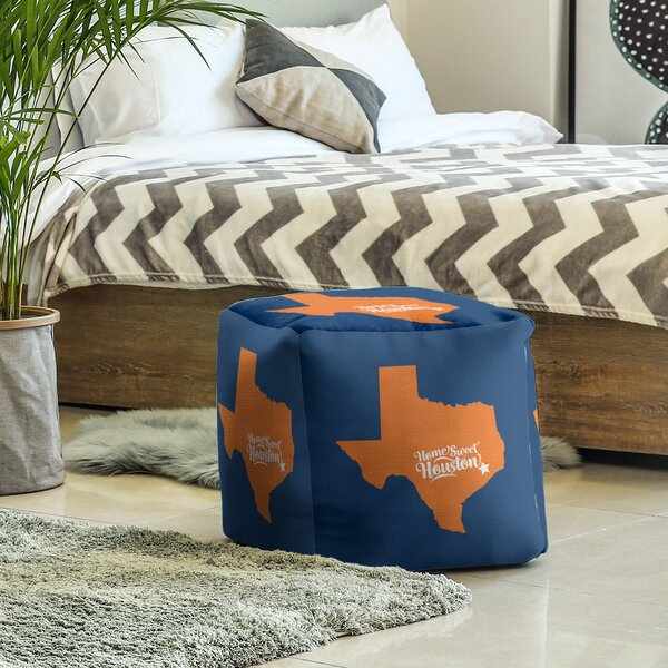 Houston Texas Sports Cube Ottoman by East Urban Home East Urban Home