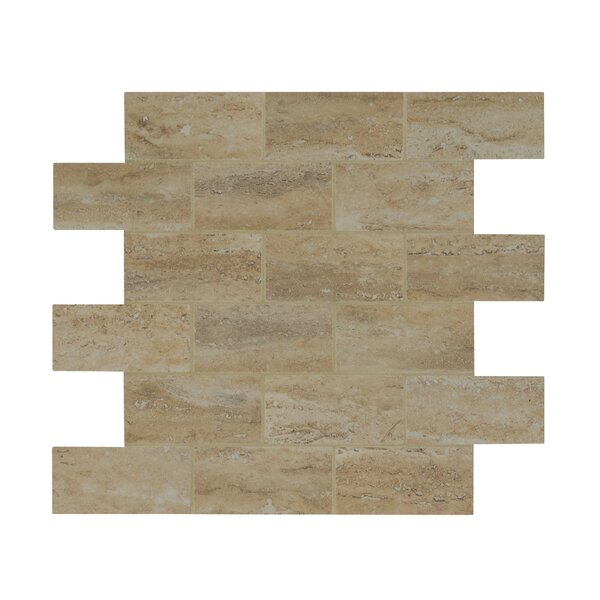 Pietra Venata 2 x 4 Porcelain Mosaic Tile in Sand by MSI