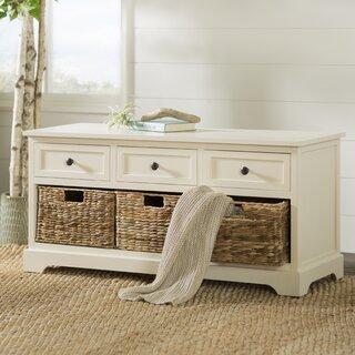 Ardina Wood Storage Bench by Beachcrest Home SKU:DD368997 Check Price