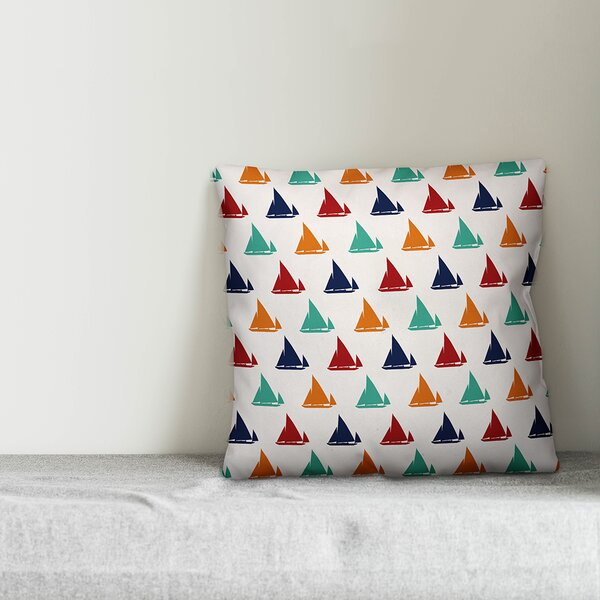 Kacie Lots of Boats Throw Pillow by Zoomie Kids