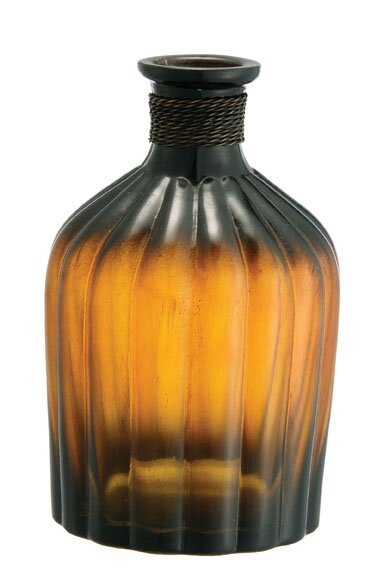 Glass Ribbed Apothecary Jar Table Vase by BIDKhome