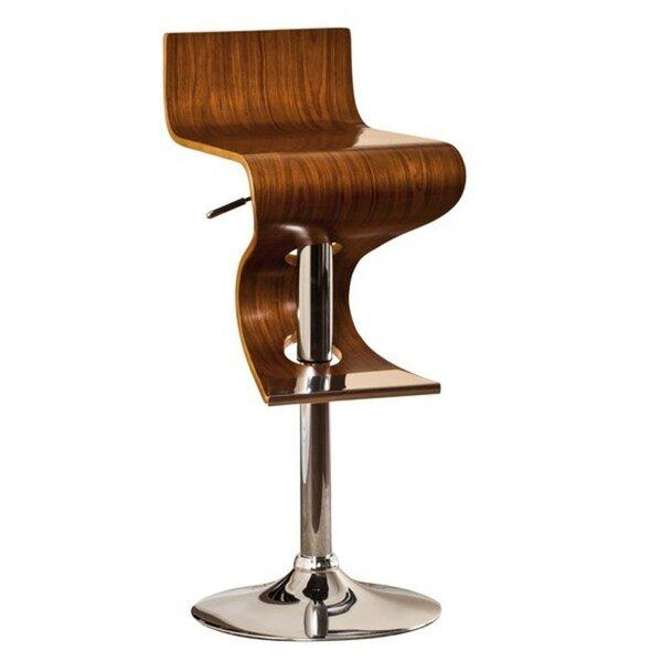 Mullican Adjustable Height Swivel Bar Stool By Orren Ellis