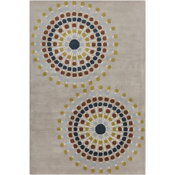 Willow Hand Tufted Wool Warm Grey Area Rug by Red Barrel Studio