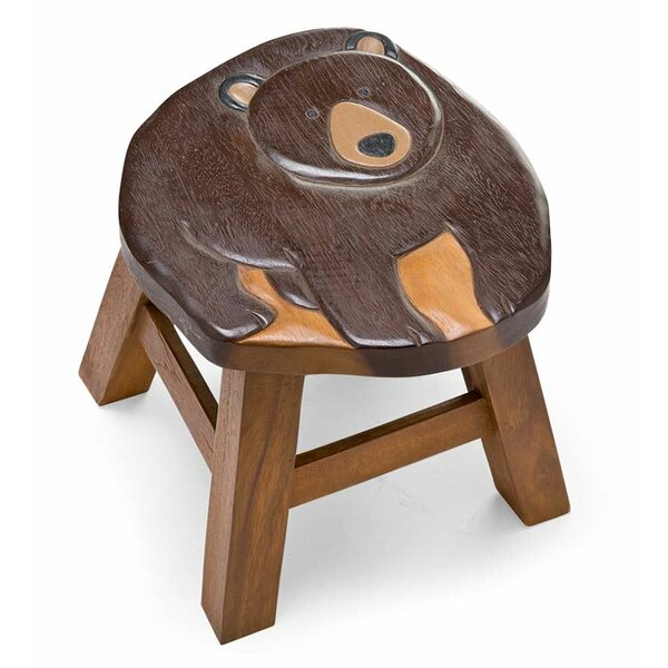 Bear Hand-Carved Woodland Friends Accent Stool by Plow & Hearth