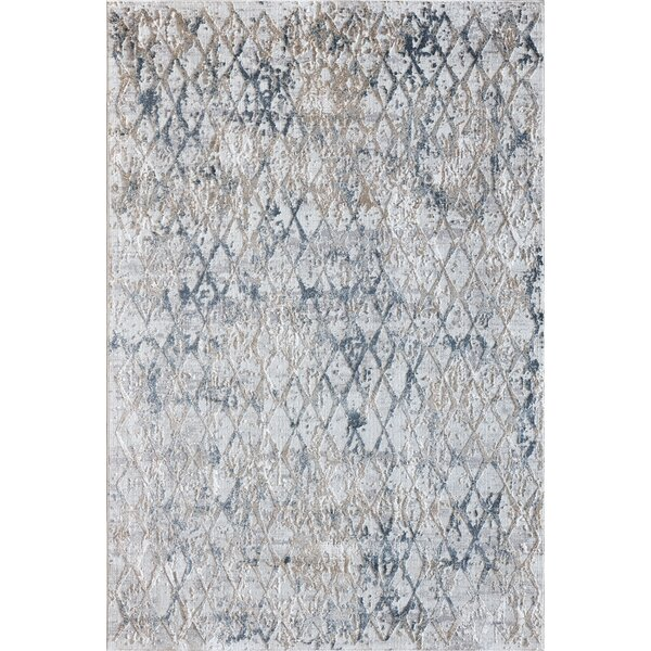 Grisby Light Beige/Blue Area Rug by Bungalow Rose