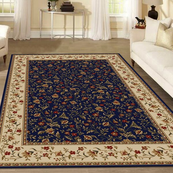 Weisgerber Navy Area Rug by Astoria Grand