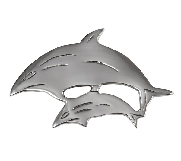 Flint 2 Dolphins Trivet (Set of 2) by Rosecliff Heights