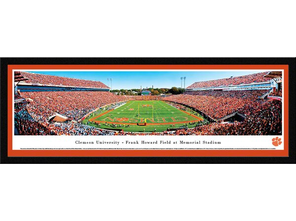 NCAA Clemson University - End Zone by Robert Pettit Framed Photographic Print by Blakeway Worldwide Panoramas, Inc