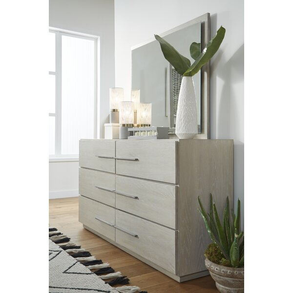 Monatuk 6 Drawer Dresser with Mirror by Wrought Studio
