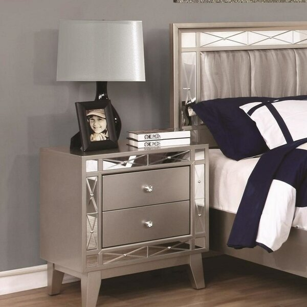 Droitwich Wooden 2 Drawers Nightstand by House of Hampton