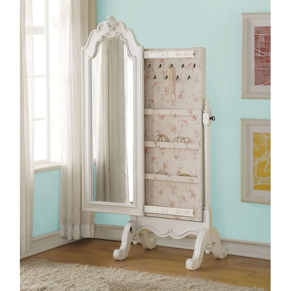 Saffold Cheval Free Standing Jewelry Armoire with Mirror by Harriet Bee