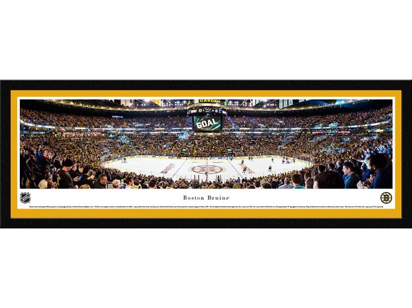 NHL Boston Bruins - Center Ice by Christopher Gjevre Framed Photographic Print by Blakeway Worldwide Panoramas, Inc
