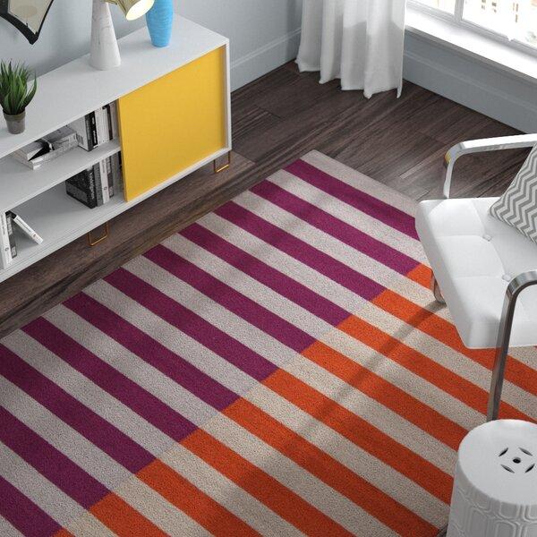 Marion Hand Woven Wool Pink/Orange Area Rug by Zipcode Design
