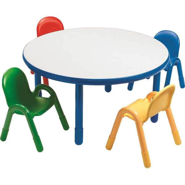 Round Baseline Preschool Table and Chair Set in Royal Blue by Angeles
