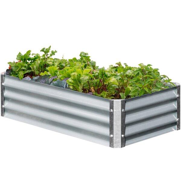 Low 3.3 ft x 1.8 ft Galvanized Steel Raised Garden by EarthMark