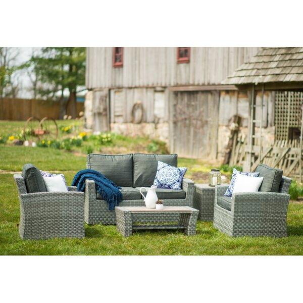 Warrenton 5 Piece Sofa Seating Group with Cushions by Brayden Studio Brayden Studio