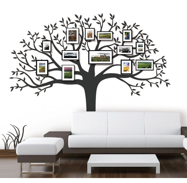 Family Photo Tree Wall Decal by Pop Decors