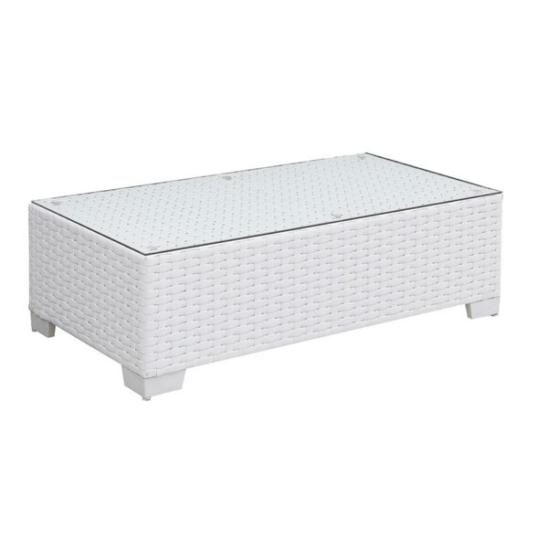Mckenzie Aluminum Frame Rectangular Coffee Table By Rosecliff Heights
