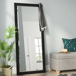 Beveled Satin Black Wall Mirror